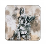 Denby French Bull Dog Coasters Set of 6