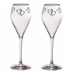 Ella Sabatini Celebration Prosecco Flute Glasses 230ml - Gift Box of 2