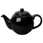 London Pottery Globe Teapot 4 Cup Black