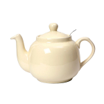 London Pottery Farmhouse Filter Teapot 4 Cup Ivory