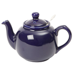 London Pottery Farmhouse Filter Teapot 6 Cup Colbalt Blue
