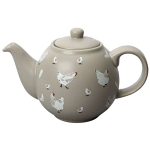 London Pottery Globe Teapot 6 Cup Pecking Order (Chickens)