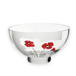 Nobile Glass Classic Poppy Bowl 18cm