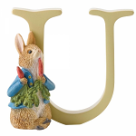Beatrix Potter - Alphabet Letter U - Peter Rabbit with Radishes