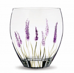 Nobile Glass Lavender Curved Vase 21cm 1873-18
