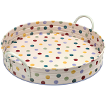 Emma Bridgewater Polka Dot - Large Round Tin Tray with Handles 1POD021407