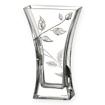 Nobile Glass Silver Leaf 23cm Vase