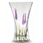 Nobile Glass Lavender Flat Flared Vase 23cm 1874-18