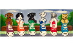 Ceramic Art Tile - Puppy Parade 6in x 16in