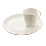 Belleek Living Grafton Cup & Tray Set