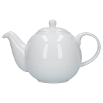 London Pottery Globe Teapot 4 Cup White