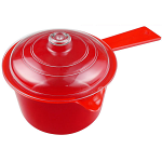 Good2Heat Microwave Saucepan (Stain Free) - Red with Clear Lid 600ml