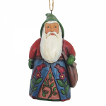 Jim Shore Heartwood Creek - Folklore Santa With Bag Hanging Ornament