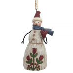 Jim Shore Heartwood Creek - Folklore Snowman With Heart Hanging Ornament