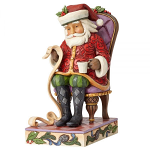 Jim Shore Heartwood Creek - Christmas Wishes Granted - Santa Reading List