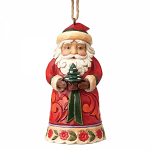 Jim Shore Heartwood Creek - Mini Santa Hanging Ornament