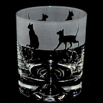 Animo Glass - Siamese Cats Whisky Tumbler