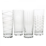 Mikasa Cheers Highball Tumbler Glasses Set of 4