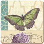 Postcard with Butterfly - Creative Tops  6 Premium Coasters