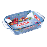 Pyrex Irresistible Glass Rectangular Roaster Easy grip 31x20cm (407B000)