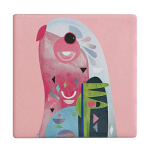 Maxwell & Williams Pete Cromer Ceramic Coaster - Parrot 9.5cm