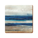 Blue Abstract Ocean View - Creative Tops  6 Premium Coasters