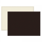Reversible Faux Leather Placemats Brown / Cream - Large Single