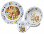 Beatrix Potter Peter Rabbit 150th Anniversary 3 Piece Childrens Breakfast Set