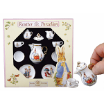 Beatrix Potter Peter Rabbit & Family Classic Miniature Tea Set