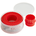 Judge 6 Piece Crinkled Cutters Red