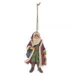 Jim Shore Heartwood Creek - Victorian Santa with Satchel Hanging Ornament