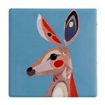 Maxwell & Williams Pete Cromer Ceramic Coaster - Kangaroo 9.5cm