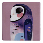Maxwell & Williams Pete Cromer Ceramic Coaster - Owl 9.5cm