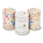 Cooksmart - Bee Happy Storage Tins - Set of 3