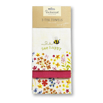 Cooksmart - Bee Happy Tea Towels - Set of 3