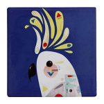 Maxwell & Williams Pete Cromer Ceramic Coaster - Cockatoo 9.5cm