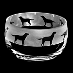 Animo Glass - Labrador Dog Small Bowl