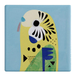 Maxwell & Williams Pete Cromer Ceramic Coaster - Budgerigar 9.5cm