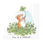 Anita Jeram - Napkins - Luncheon - One in a Million (4 Leaf Clover)