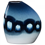 Poole Pottery Blue Orchid Asymmetrical Bean Vase