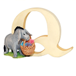 Border Fine Arts - Winnie The Pooh - Letter Q - Eeyore with Basket