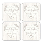 Cooksmart - Food for Thought Coasters - Set of 4