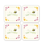 Cooksmart - Bee Happy Coasters - Set of 4