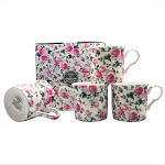 Heritage Bone China - Ivy Rose Mugs - Set of 4