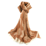 Modern Leaves Scarf - Natural
