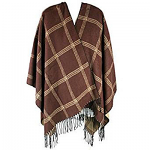 Ladies Poncho Cape or Shawl - Brown & Tan