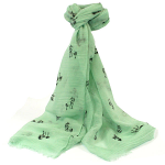 Horses Scarf - Mint Green