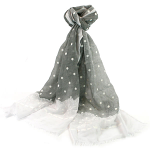 Lace Style Scarf - Silver