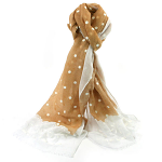 Lace Style Spot Scarf - Silver