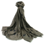 Deer Scarf - Grey